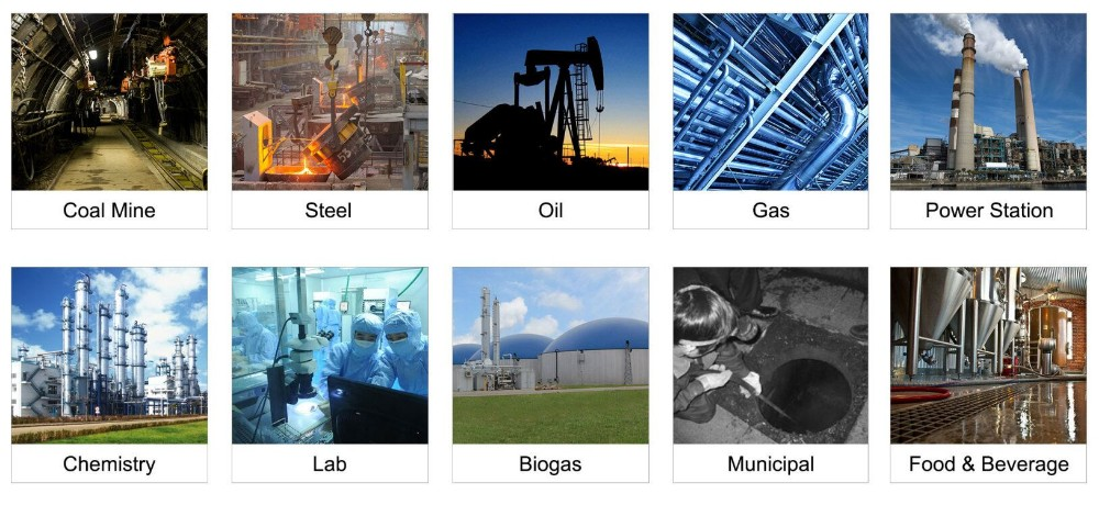 Oem multi gas detector, kombinasi CH4 gas, LEL, CO, CO2, H2S, O2, TIDAK ADA, NO2, NH3, 2,3, 4 gas detector
