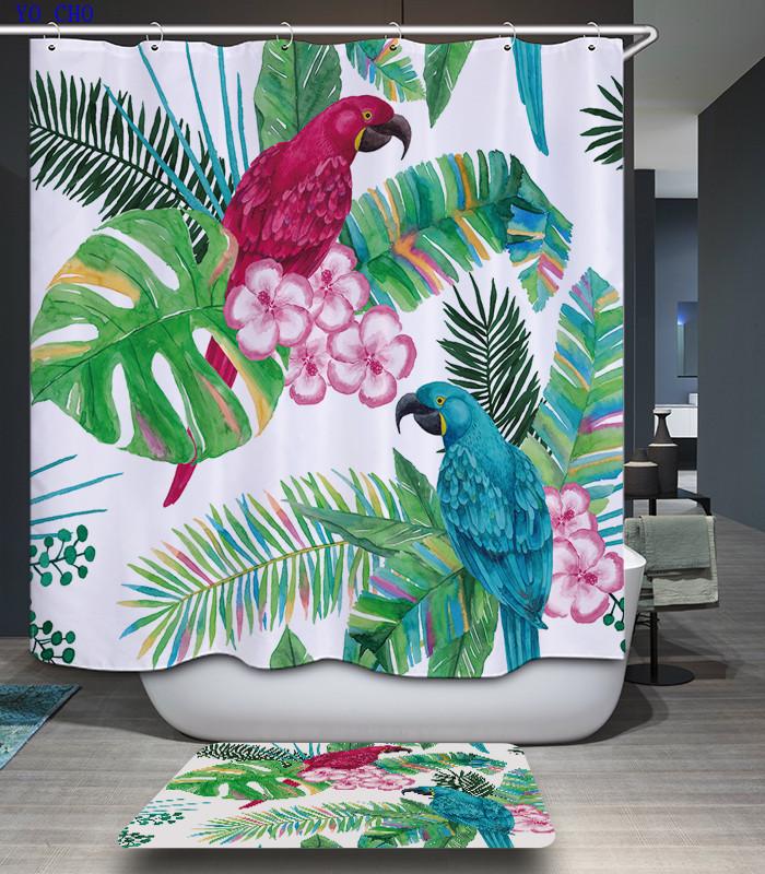 deje de bao rbol planta de polister cortinas de bao impreso navidad elegante tela d flor