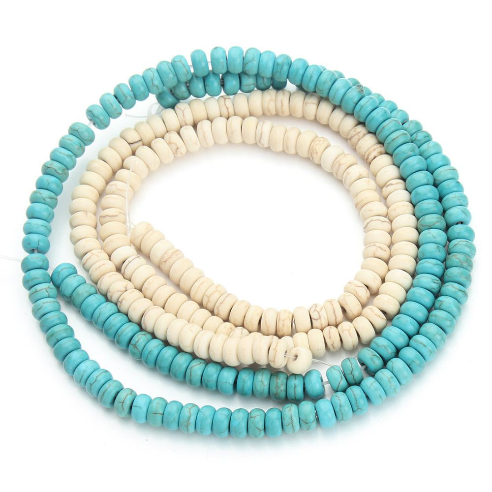 3*6mm Loose Natural Stone Green Turquoise Beads For Jewelry Making DIY Necklace and Bracelets Wholesale
