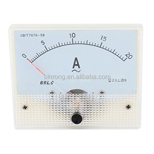 69L9 Analogico Panel Current Meter Amperometro Gauge AC 0-20A