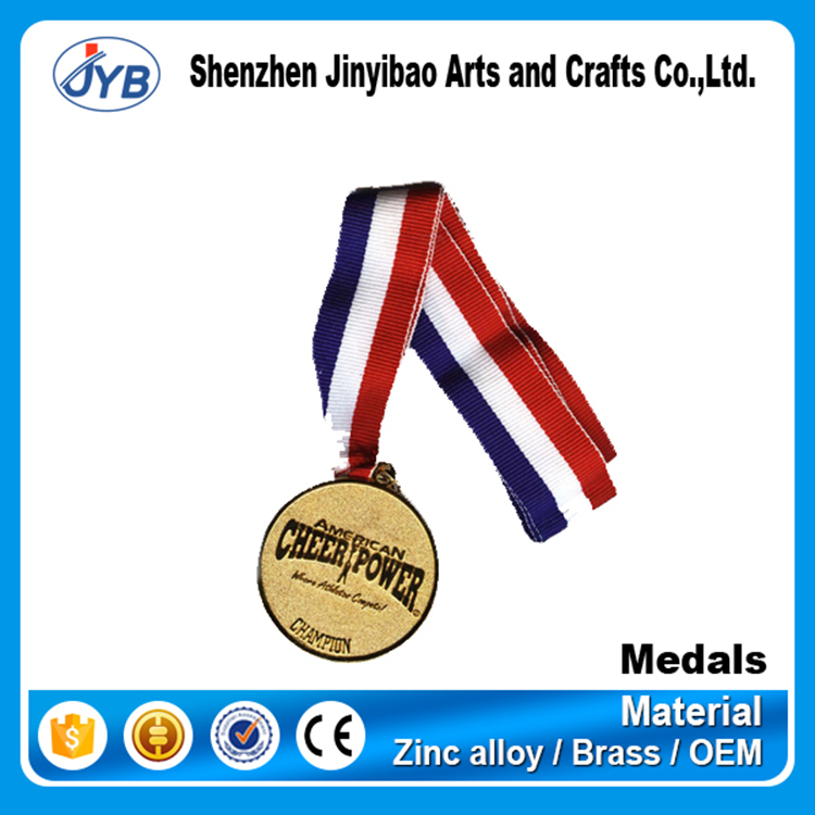 wholesale price custom logo fabric soft silk medal ribbon