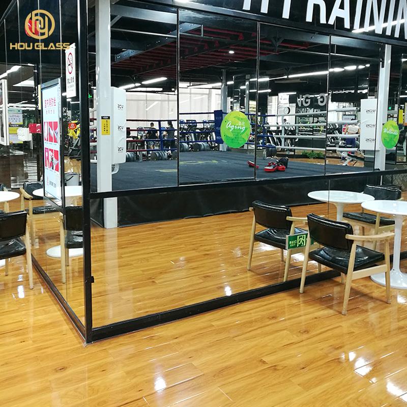 Full size Specchio A Parete palestra sport Dance Studio specchio di sicurezza hou di vetro temperato specchio di fabbrica di foshan