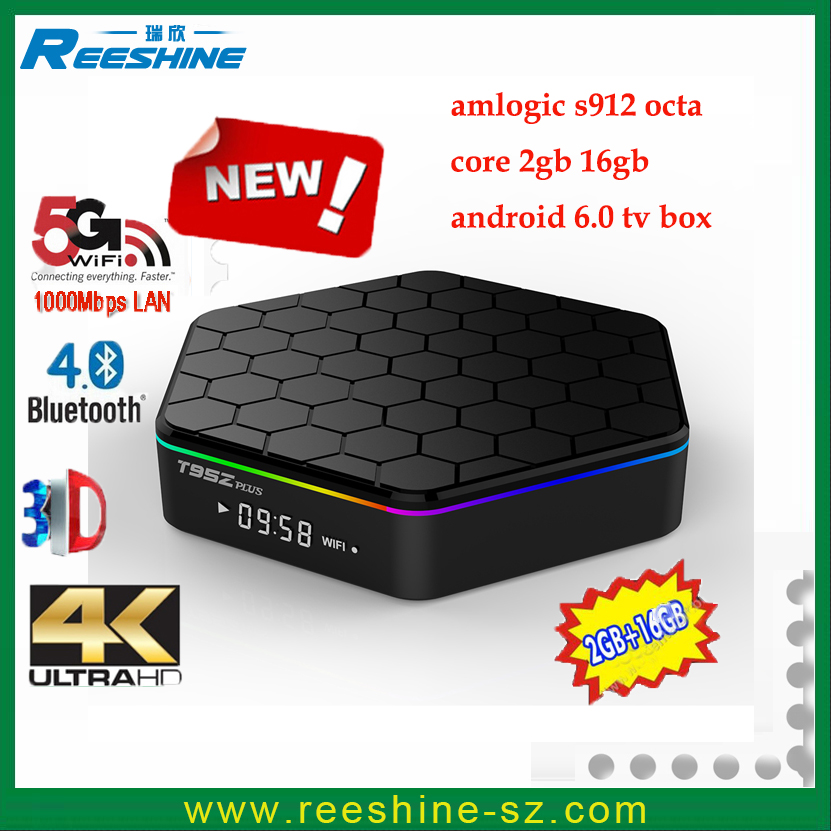 2016 new Android TV <strong>Box</strong> T95Zplus S912 android6.0 octa core 1000M LAN KODI17.0 <strong>media</strong> player BT4.0 T95Z plus <strong>set</strong> <strong>top</strong> <strong>box</strong>