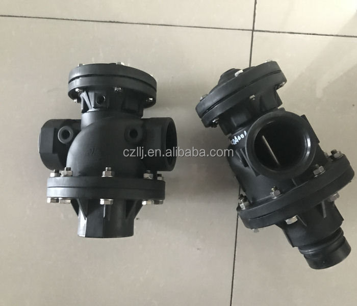 "Nylon material DN65 2.5"" three way motorized valve for sand filter Made in China"