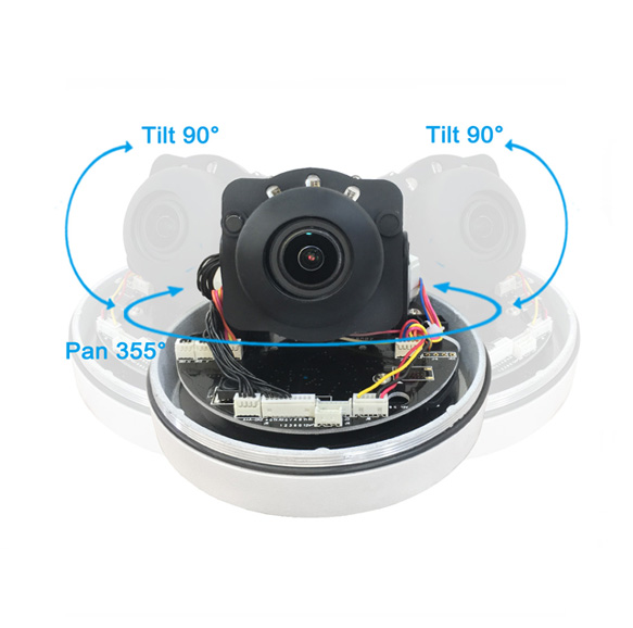 P2P RS485 Controller 2.5 Inch Mini Speed Dome Camera 5x Zoom PTZ Camera for Church