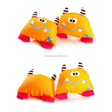 Yellow Pet Squeaky Chew Canvas Monster Dog Toy for Sale