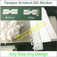 Custom Anti-fake Adhesive QC/QA Labels, Tamper Destructible Quality Control Seal Sticker Leaving Evidence When Removed