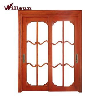 European Western Style Sliding Wood Doors Glazed Wooden Frames Glass Inseret Wood Design Damp Proof Kitchen Doors Balcony Doors Buy Wood Frame