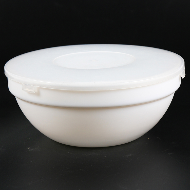 Durable in use hermetic fresh food opal glass bowl with cover
