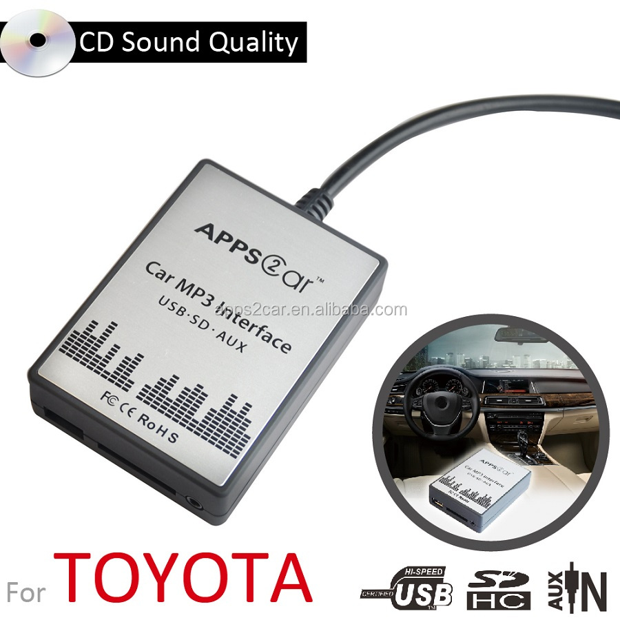 Apps2car For Usb Car Stereo Adapter With Usb/sd/aux/bluetooth Car Mp3  Function For Camry,Lexus,Scion - Buy Audio System Digital Music Changer For