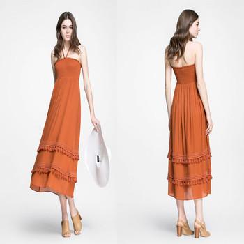 Tube top summer dresses for women