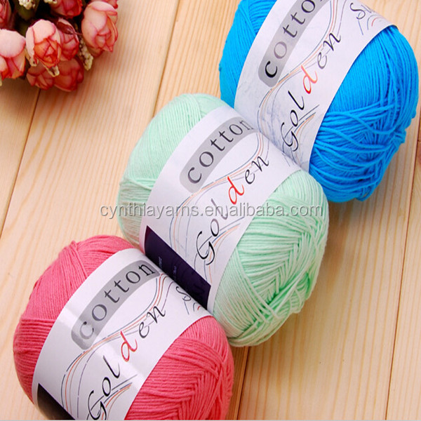 Cynthia Multicolor Cotton Yarn Cotton Gassed Mercerized Yarns 100% Natural Dyed
