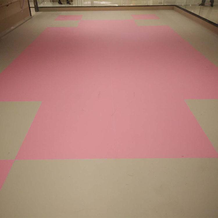 Sales Floor Team Leader: Homogeneous Vinyl Flooring Black White Yellow Red Dance