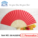 Blank Custom souvenir gift wedding invitation printed paper folding hand fans