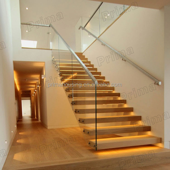 Open Riser Staircase With Embedded Stringer