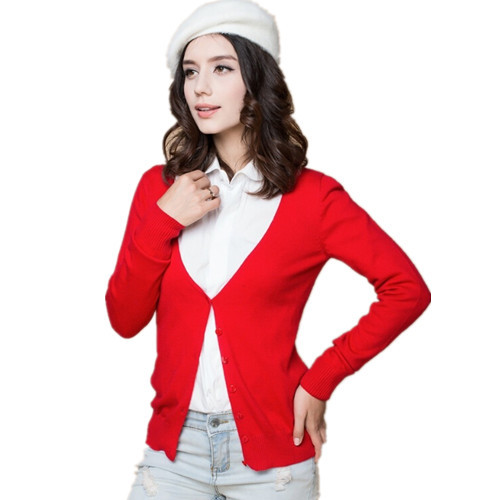 Hot Sale Womens Sweaters Fashion 2015 autumn Spring 100% Cashmere Sweater Wool Knitted Cardigan Feminino Casual Warm Coat ZZH010