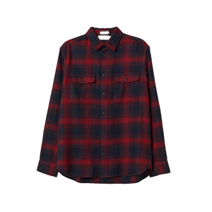Men wear Regular fit long sleeves soft cotton flannel Plaid shirt