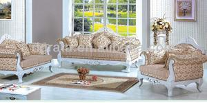 2015 latest American living room sofa is made by imported rubber wood and print fabric for living room