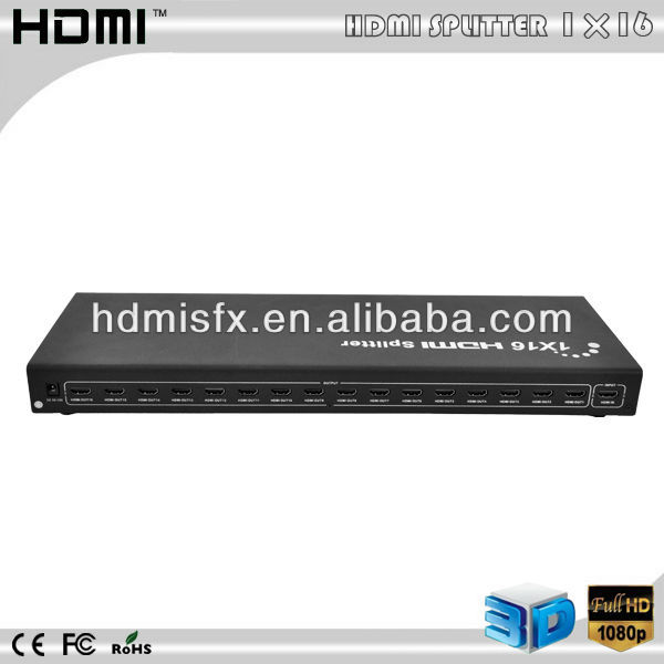 Hot sale 1x16 HDMI Splitter with HDCP 1.2 protocol compliant
