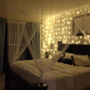 Christmas Led 300leds Curtain Light 9 8ftx9 8ft Warm White For Wedding