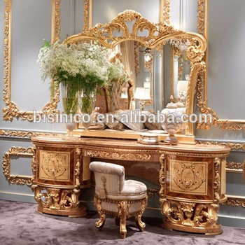 Golden Furniture Queen Anne Bedroom Set, Luxury Wood Carved U0026 Painted  Dresser With Mirror,