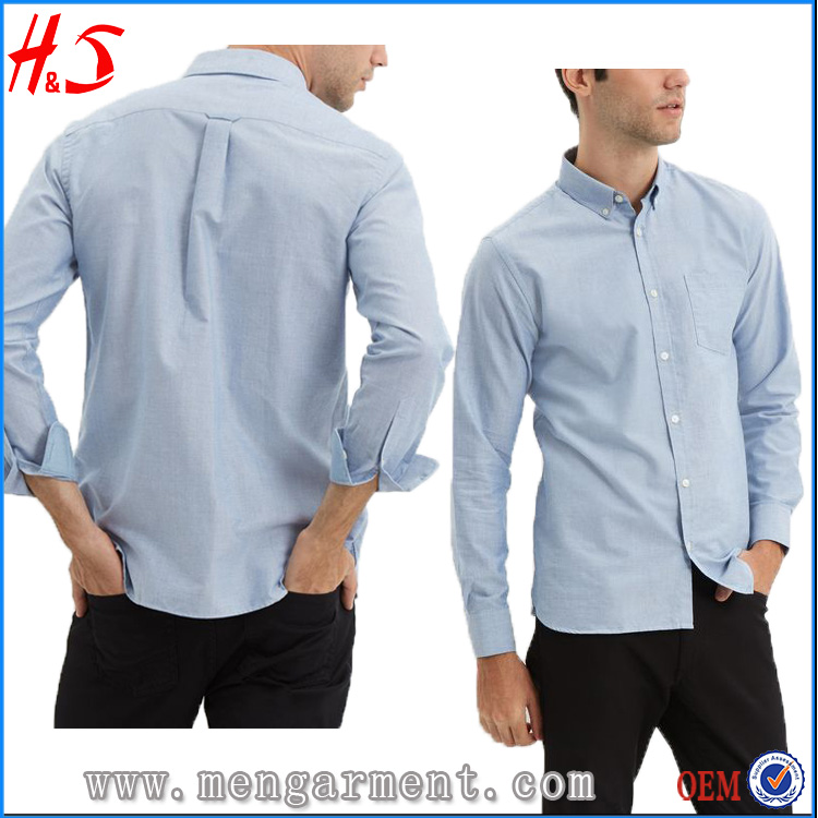 Latest Design Guangzhou Clothes Oxford Shirt Men Casual Shirt With Cotton Fabric