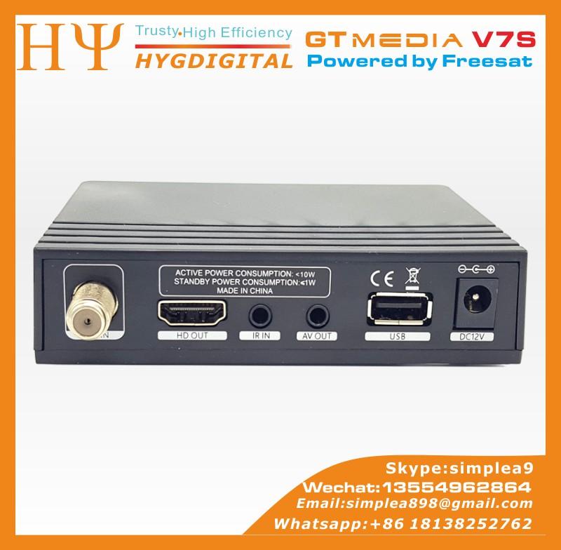 [genuine] Gtmedia V7s Freesat V7 Hd With Usb Wifi Dvb-s2 Hd Satellite Tv  Receiver Support Powervu Biss Key Cccamd Newcamd - Buy Gtmedia V7s Freesat