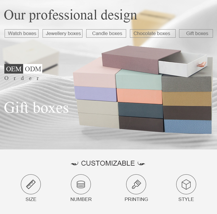 Customized Luxury Recycle Corrugated Cardboard Packaging Drawer Gift Box