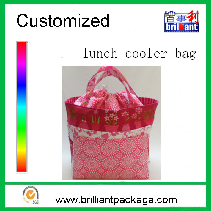 Ladies cheap insulated cool carry drawstring fitness lunch cooler bag