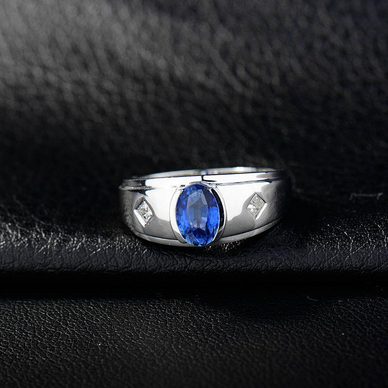blau saphir herren ring m nner stil saphir diamant ring. Black Bedroom Furniture Sets. Home Design Ideas