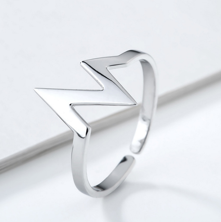 Women trend creative jewelry 'N' letter sterling silver ring for gifts