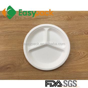 ER-1003 Food Grade Sugarcane Compostable \u0026 Biodegradable Disposable Food paper Plate  sc 1 st  Alibaba & Er-1003 Food Grade Sugarcane Compostable \u0026 Biodegradable Disposable ...