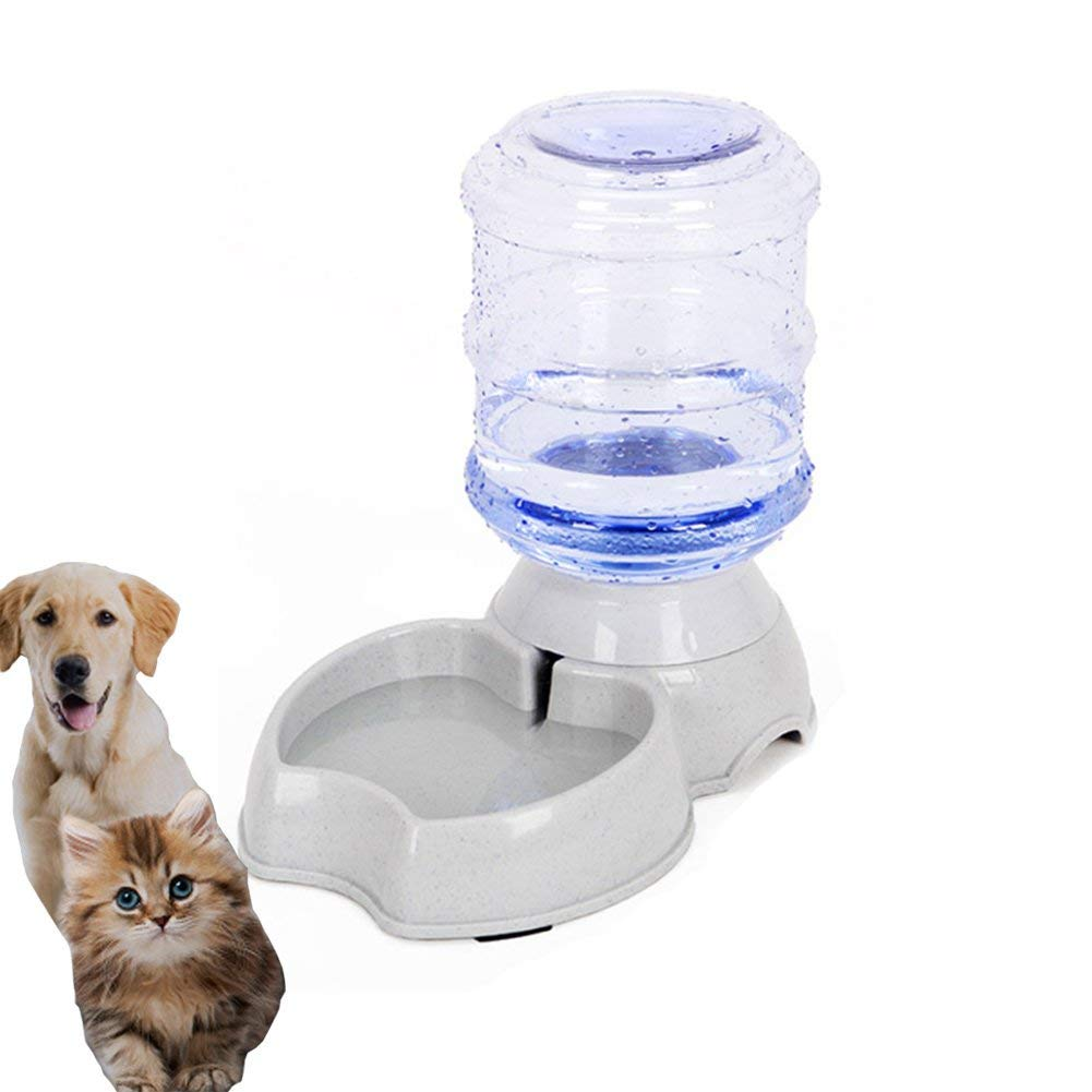 meleg otthon Pet Water Dispenser, Automatic Pet Waterer,Replenish Pet Waterer,Pet Water Dispenser Station,Automatic Gravity Water Drinking Fountain Bottle Bowl Dish Stand 1 Gal(3.8L)
