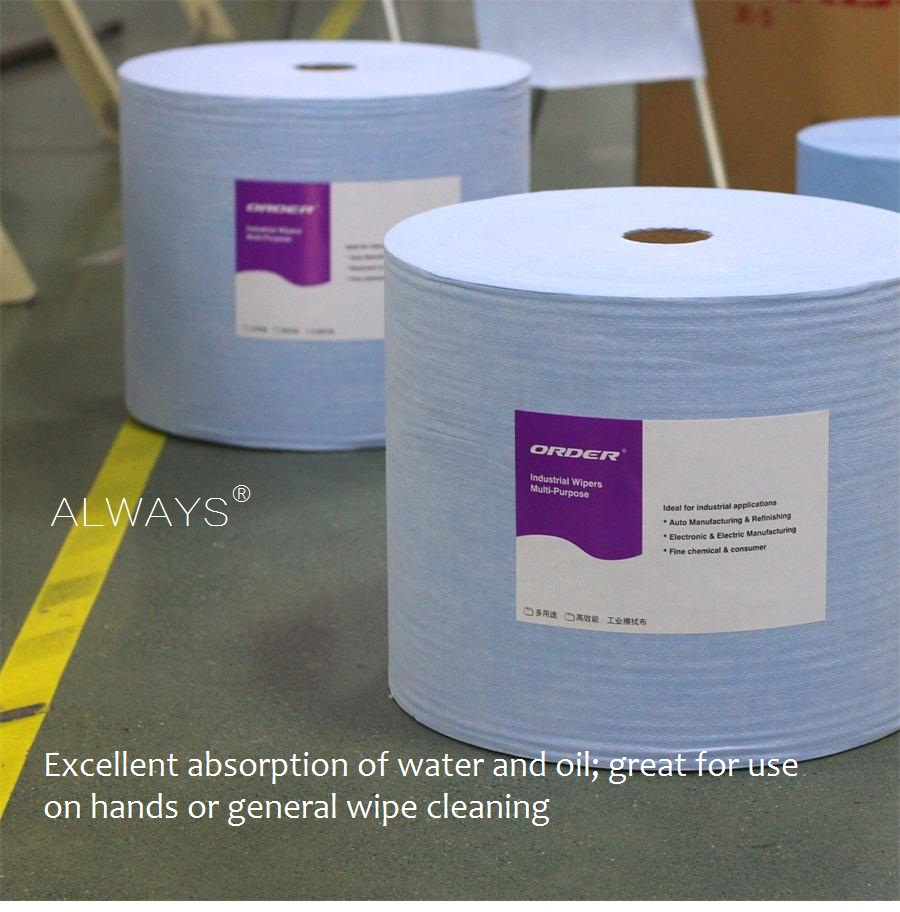 Spunlace disposable nonwoven floor wipes/industrial wipes