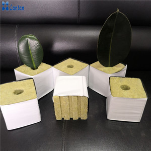 hydroponic media agriculture rock wool grow cubes