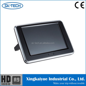 Hot-sell 9 inch android 4.4.4 bluetooth wifi 3g dongle DC 12 V automobile headrest monitor for BMW e60