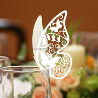2017 New Unique Laser Cut Butterfly Wedding Place Card