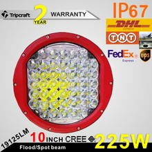 "Car Accessories 225W Led Work Light 10"" Round 4x4 Offroad Led Work Light"