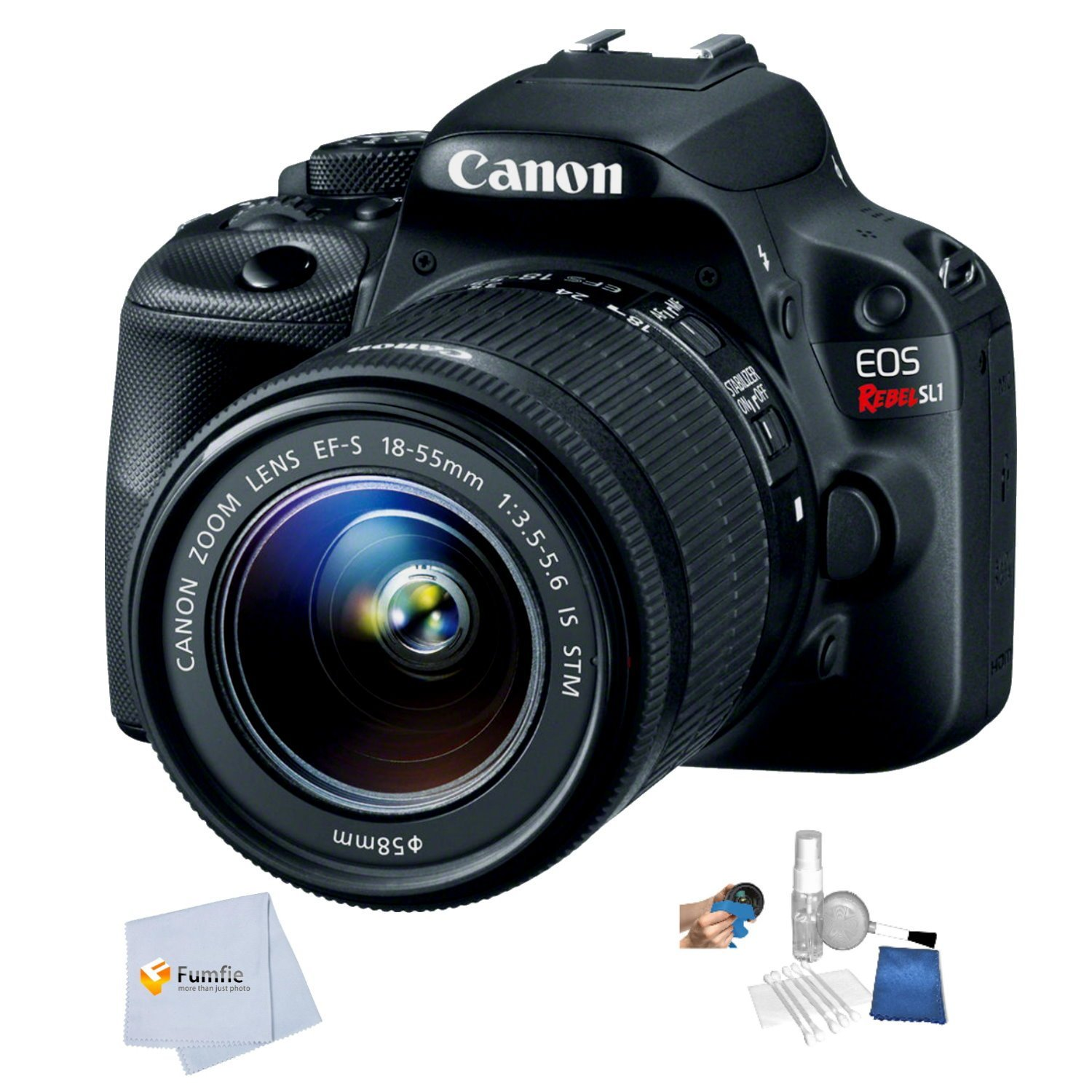 Canon EOS Rebel SL1 DSLR Camera with 18-55mm Lens – International Version (No Warranty)