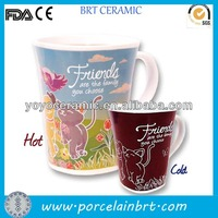 beautiful new western ceramic color changing cup magic mug for advertising