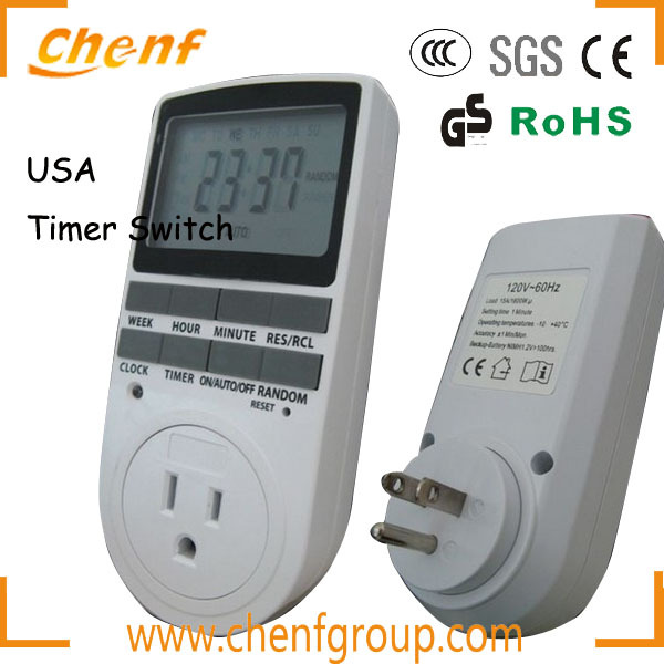 Top Sale American type Digital timers switch with usa socket