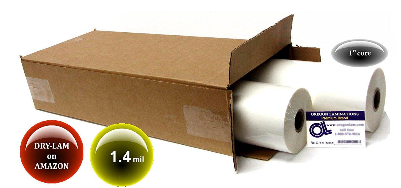 Dry-Lam School-Lam Hot Laminating Film 18-inch x 500-feet x 1-inch core (4 Rolls) 1.4 Mil