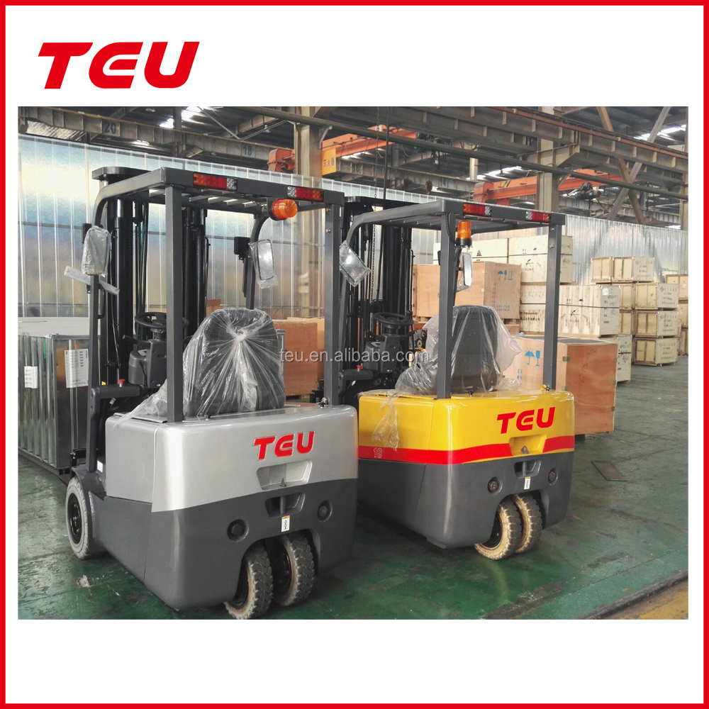Anhui TEU threee wheels 1.5 ton 1.8ton 2 ton electric forklift hot selling