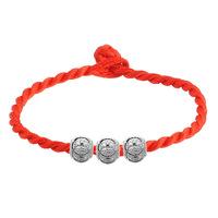 Lucky bead red string bracelet rope bracelet
