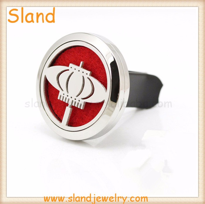 2017 Fashion gift to friend!Lantern design Aroma Essential Oil Stainless Steel Car Locket Diffuser for Car Air Refresh