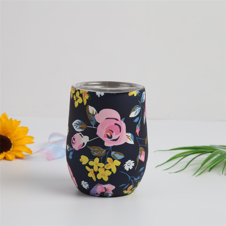 Wholesale stainless steel skinny tumbler travel mug 12 oz vacuum insulated wine tumbler