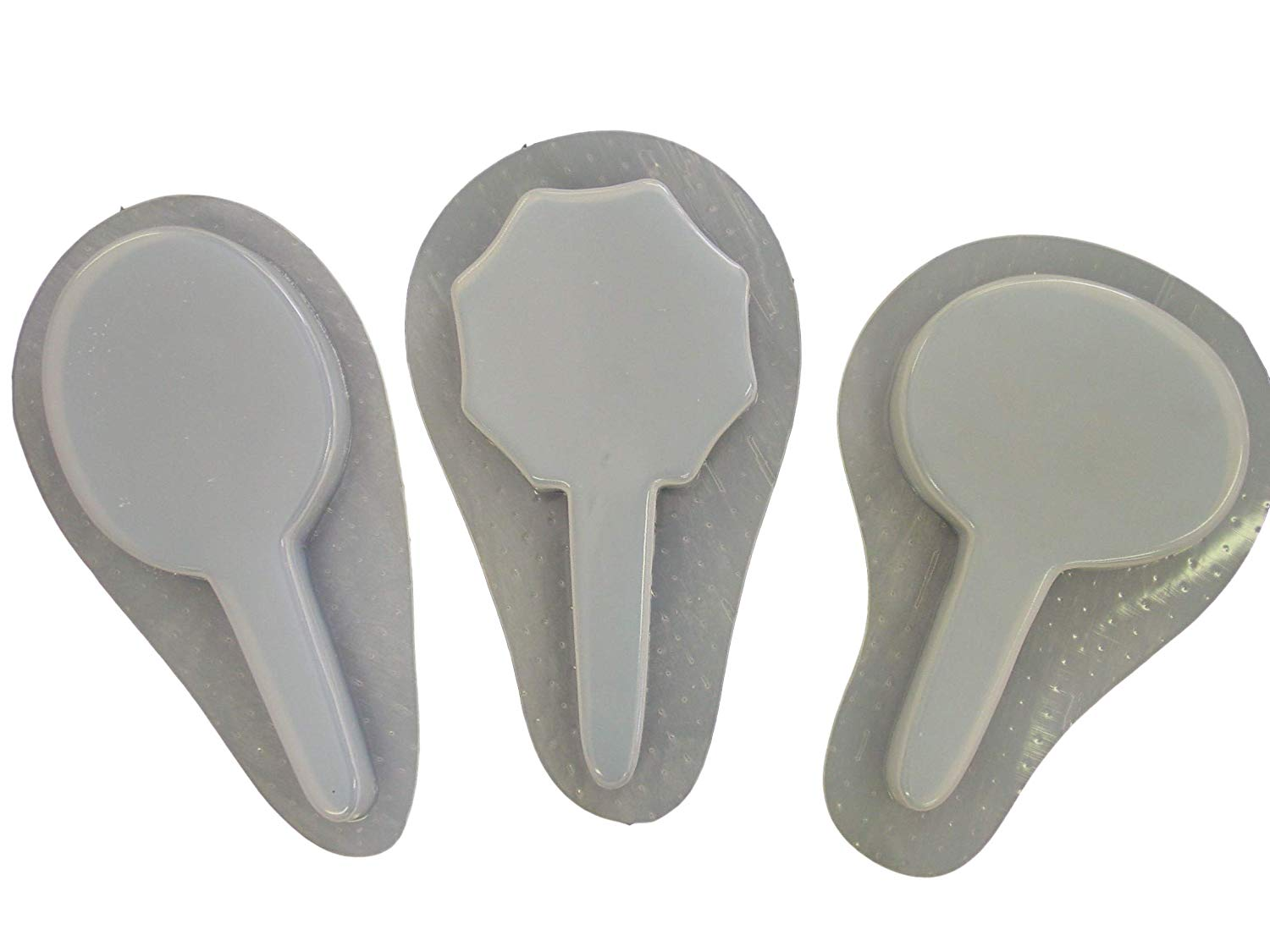 Plain Smooth Set of 3 Garden Stake Concrete Plaster Molds 4006