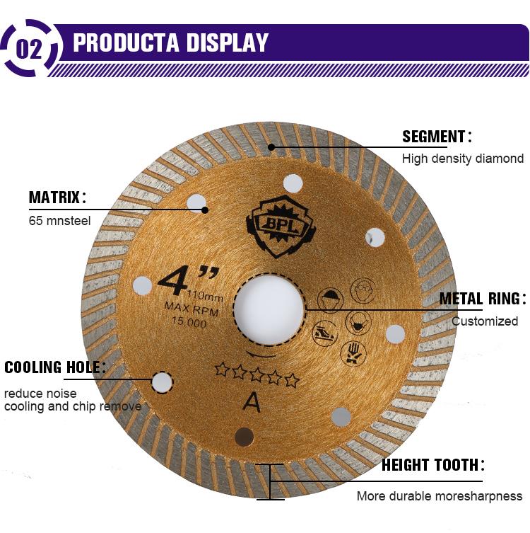 High Strength Circular Diamond Tool For Ceramics Tile Dry Cutting