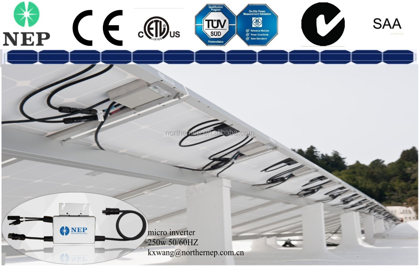 Nep Cec 95% More Than Enphase Approved Solar Pv Micro Inverter 250w ...