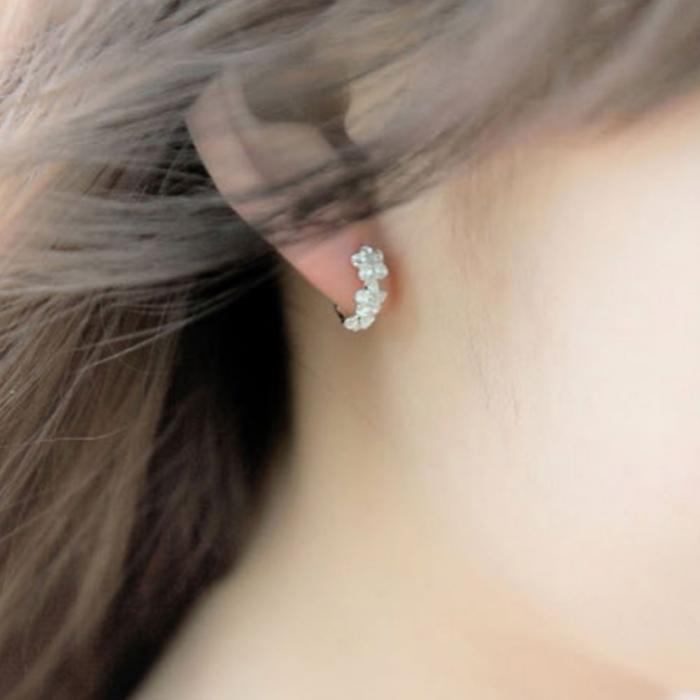 Crystal Silver Earrings Quality Y Directly From China Cattle Suppliers Hot Flower Artificial Small Hoop